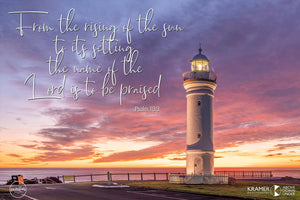 Word + Image: Psalm 113:3 - Kiama Lighthouse (WI031R)