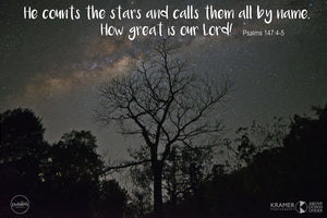 Word + Image: Psalm 147:4-5, Tongarra Milky Way (WI049R)