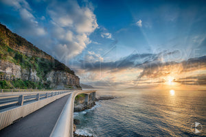 Sea Cliff Bridge Sunrise, Wollongong