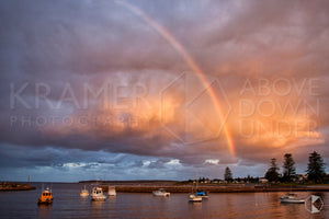 "Harbour Rainbow, Shellharbour - 20x30"" Canvas"