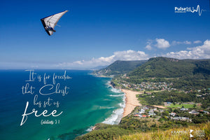 "Word + Image: Galatians 5:1 - Stanwell Tops (WI009R) - 10x15"" Canvas"