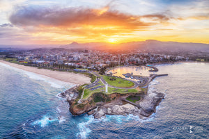 Aerial Sunset, Wollongong (AC058R)
