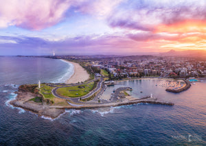 "City Aerial, Wollongong (AC033R) - 20x30"" Canvas"