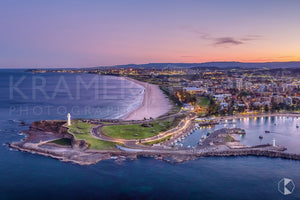 "Wollongong Twilight, Wollongong (AC002R) - 10x15"" Canvas"