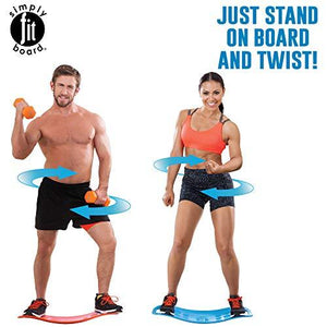 Simply Fit 30044 The Abs Legs Core Workout Balance Board