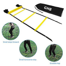 Load image into Gallery viewer, GHB Pro Agility Ladder Agility Training Ladder Speed Flat Rung