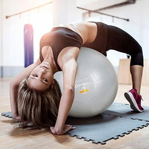 Exercise Ball Chair - Yoga Fitness Pilates Ball & Stability Base for Home Gym & Office