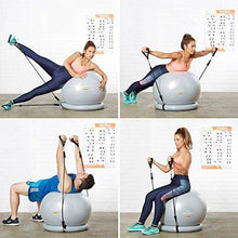 Load image into Gallery viewer, Exercise Ball Chair - Yoga Fitness Pilates Ball & Stability Base for Home Gym & Office
