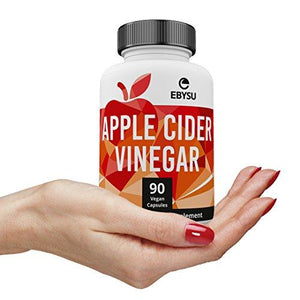 EBYSU Apple Cider Vinegar Capsules - Extra Strength Appetite Suppressant Pills for Weight Loss