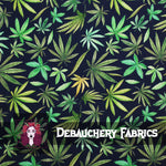 Leafy Greens on Cotton Spandex Jersey