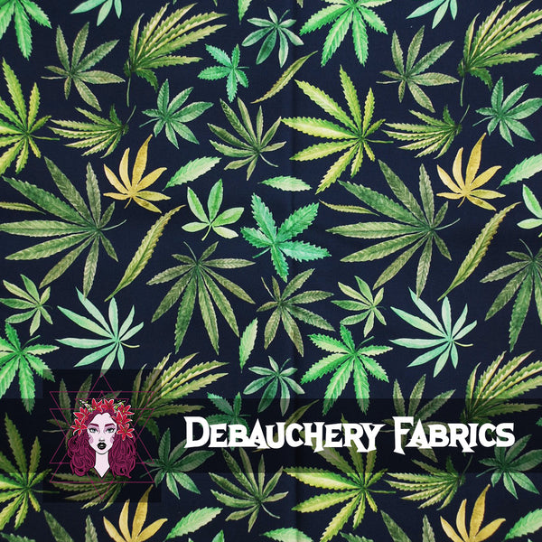 Leafy Greens on Stretch Cotton Woven