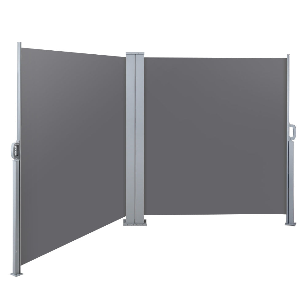 Privacy Screen by Instahut 1.8X6M Retractable Side Awning Shade Screen | Charcoal