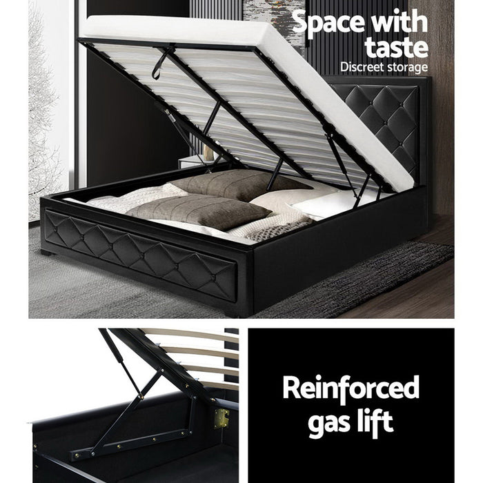 Tanyosho Gas Lift Bed Frame | Queen | Black