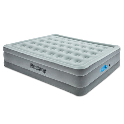 Bestway Explorer Inflatable Air Bed Mattress with built in Auto Pump | Queen | Seagull