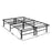 Strobus Foldable Metal Bed Frame | Double | Black