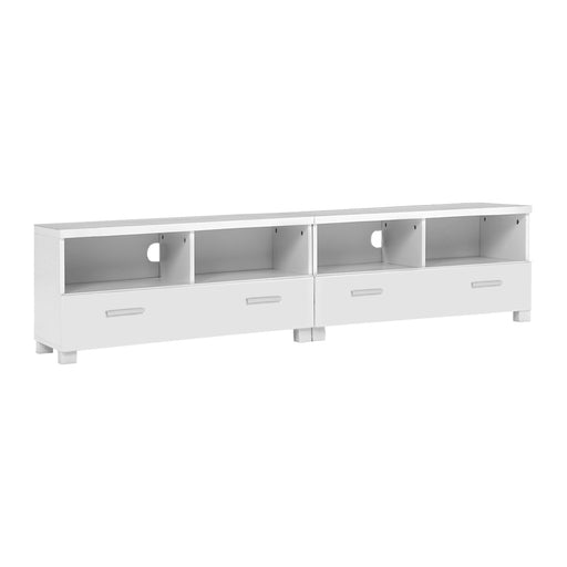 Norway 180cm Entertainment or TV Cabinet with Drawers | White