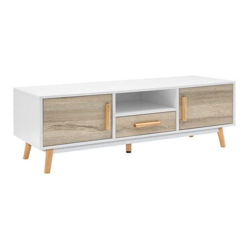 Norway 120cm Wooden Entertainment or Multi Purpose Cabinet | White/Natural