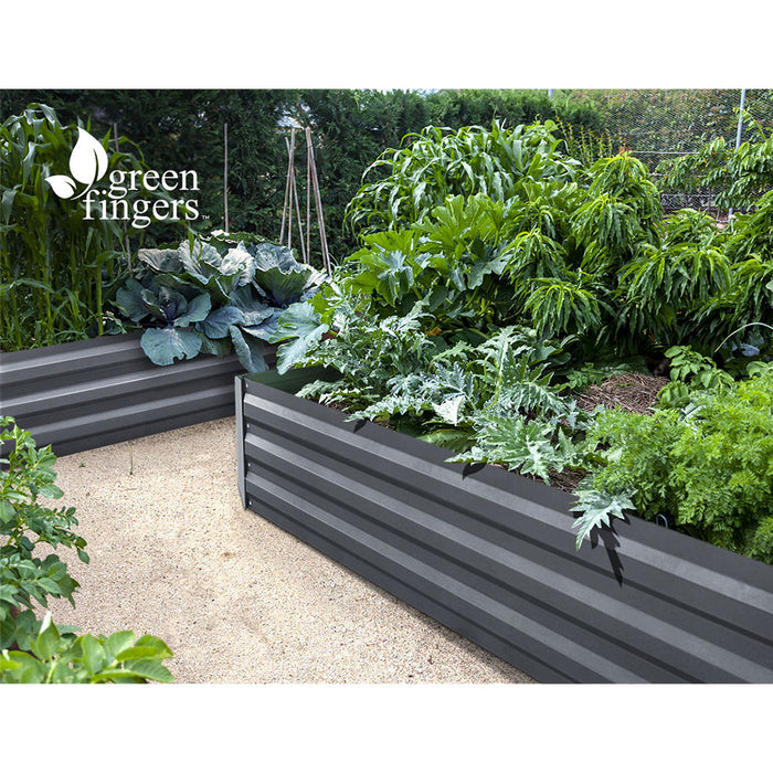 Grow for Life Set of 2 210cm x 90cm Raised Garden Beds | Slate