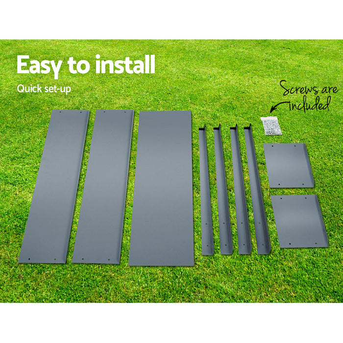 Grow for Life Standing 100cm x 80cm Raised Garden Bed | Aluminium