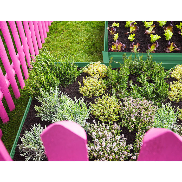 Grow for Life Set of 2 210cm x 90cm Raised Garden Beds | Forest Green