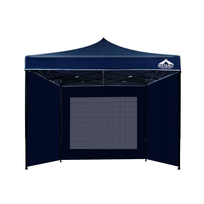 Director Deluxe by Instahut 3m x 3m Outdoor Gazebo | Ink (Dark Navy)