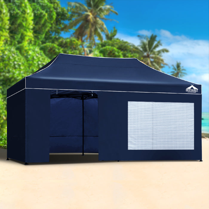 Commander by Instahut 3m x 6m Outdoor Gazebo | Ink (Dark Navy)