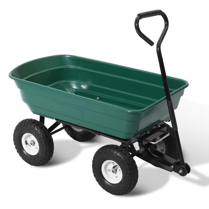 Dirty Jobz 75L Load & Dump Garden Cart | Green
