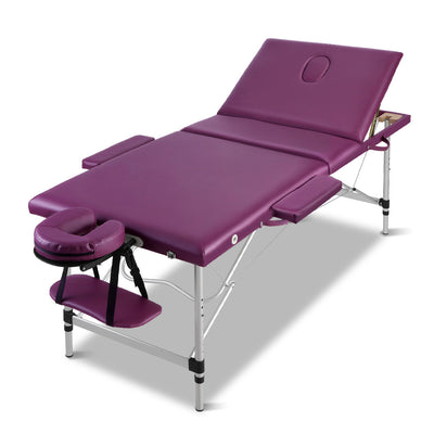 Espa Deluxe Portable Aluminium Folding Massage Table | Mid Purple