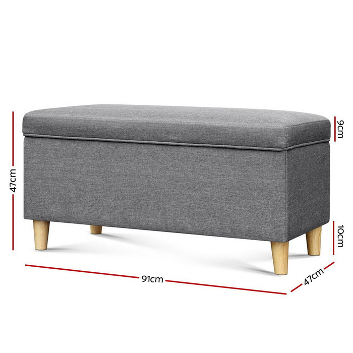Norway Kids Storage Ottoman | Stone