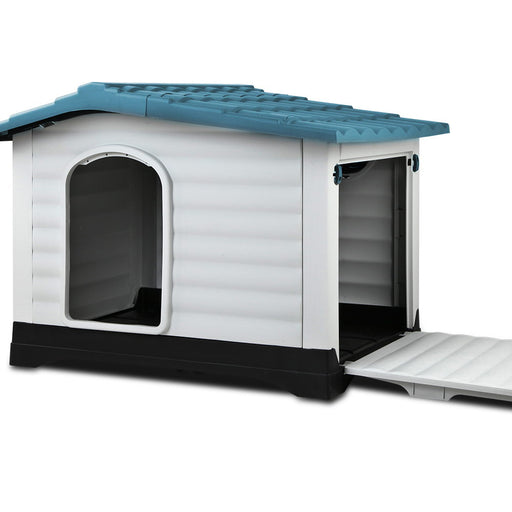 Pet Utopia Extra Extra Large Pet Kennel | Blue/White