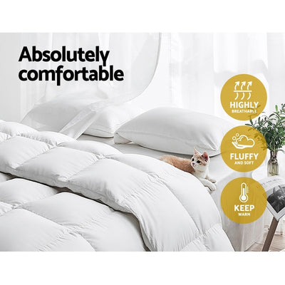 Comfort Sleep by Giselle 700gsm Merino Wool Quilt | King | White