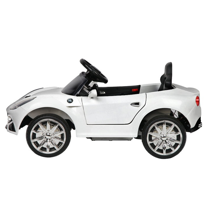 Ferrari F12 Inspired Kids Ride On Car with Remote Control | White