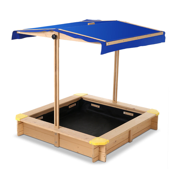 Loblolly Wooden Outdoor Sand Box Set Sand Pit | Natural