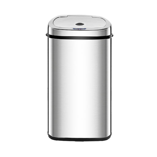 Kleenmate 50L Stainless Steel Motion Sensor Rubbish Bin | Polished Stainless Steel