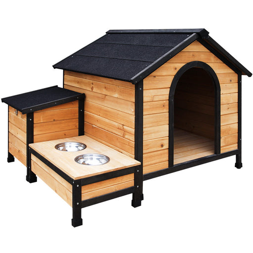 Pet Utopia Extra Large Wooden Pet Kennel with Storage | Natural (Fir)