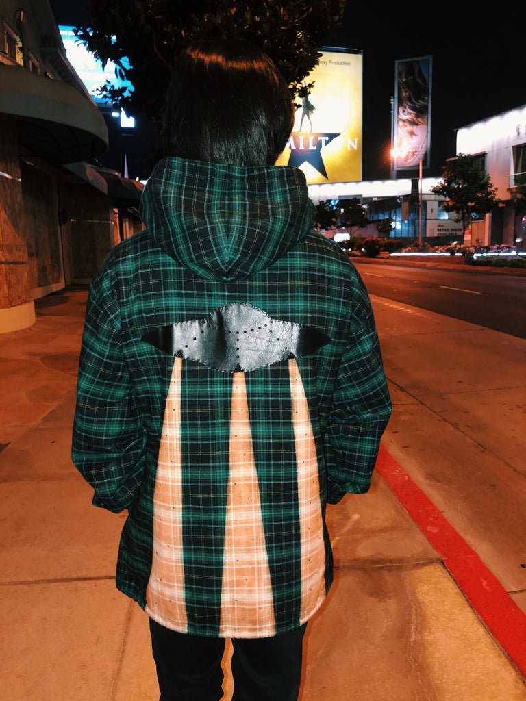 Leather UFO Flannel Hoodie