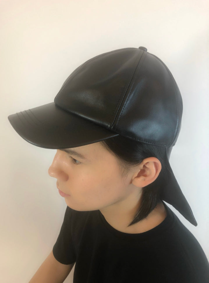 Leather Ray Cap