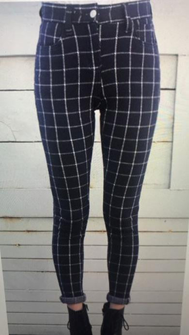 DARCY plaid Trousers