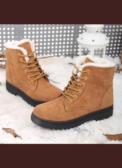 Cute Fuzzy worker boots