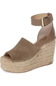 espadrilles platforms wedges  leather