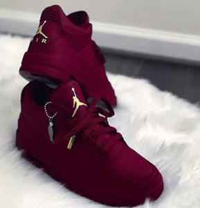 Original Jordan burgandy Shoes