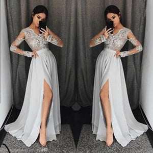 HANNAH SIDE SPLIT PROM DRESS