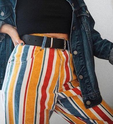 ELLA striped color pants