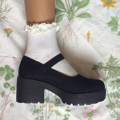 chunky  platforms leather
