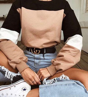 SUMMER Color Block sweater