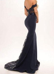 Floor-Lenght lace backless elegant Dress