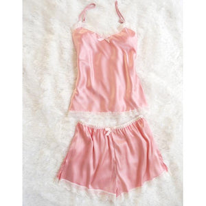 Silk Pyjamas Set Lingerie Clothes