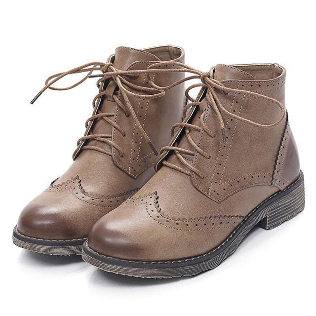 The  Oxford Women Leather Boots