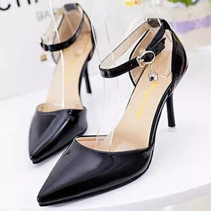 The Leather Pointed Toe High Heels.