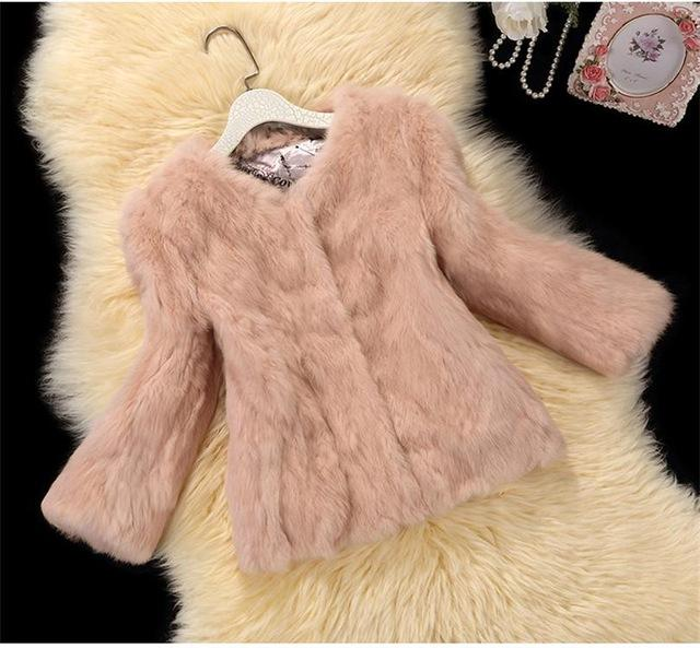Rabbit  faux fur Coats